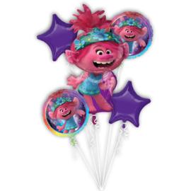 Trolls folieballonnen boeket World Tour