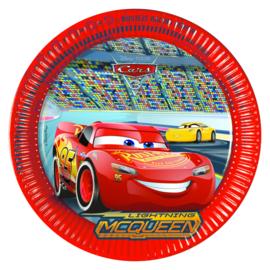 Disney Cars 3 bordjes ø 23 cm. 8 st.