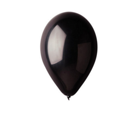 Ballon metallic zwart  ø 30 cm. 10 st.