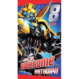 Transformers verjaardagskaart 8 jaar