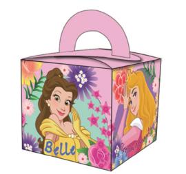 Disney Princess traktatie doosje 6,5 x 6,5 x 6,5 cm. 8 st.