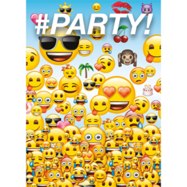 Emoji - Smiley uitnodigingen 8 st.