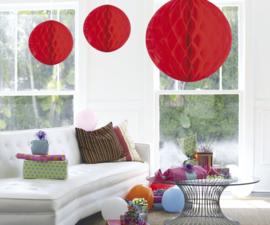 Honeycomb bal decoratie rood groot ø 50 cm.