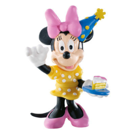 Disney Minnie Mouse celebration taart topper decoratie 7 cm.