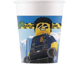 Lego City politie bekertjes 200 ml. 8 st.