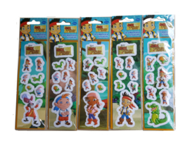 Disney Jake en de Nooitgedachtland piraten 3D stickervel p/stuk