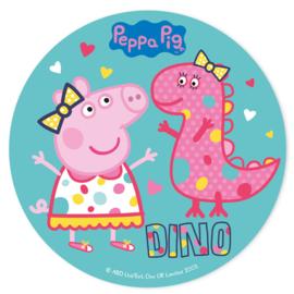 Peppa Pig taart decoratie Dino ø 20 cm.
