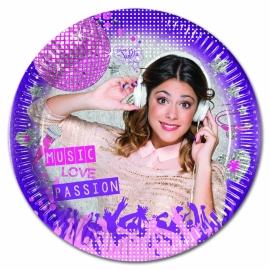 Disney Violetta gebakbordjes ø 20 cm. 8 st.