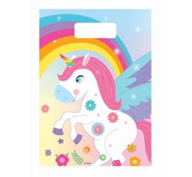 Rainbow Unicorn traktatiezakjes 6 st.