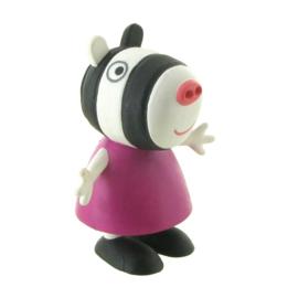 Peppa Pig Zoë Zebra taart topper decoratie 6 cm.
