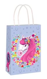 Paarden traktatie tasje Perfect Pony Club 14 x 21 x 7 cm.
