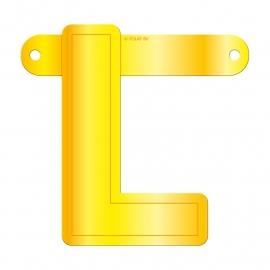 Banner letter L geel