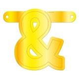 Banner letter & geel