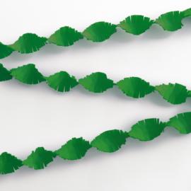 Crêpe papier slinger groen 6 mtr.