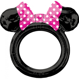 Disney Minnie Mouse selfie frame folieballon 73 x 71 cm.