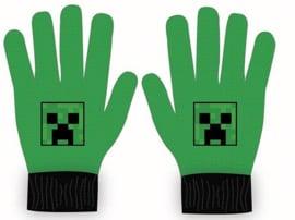 Minecraft handschoenen groen onze size