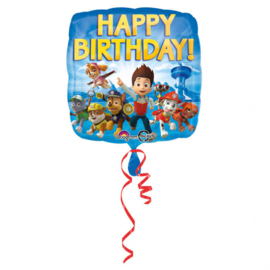 Paw Patrol happy birthday folieballon 43 cm.