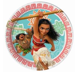 Disney Vaiana gebakbordjes ø 19,5 cm. 8 st.