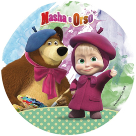 Masha and the Bear taart en cupcake decoratie
