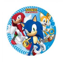 Sonic The Hedgehog gebakbordjes ø 18 cm. 8 st.