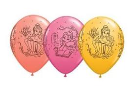 Disney Princess Belle ballonnen ø 28 cm. 6 st.