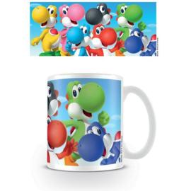 Super Mario Bros porseleinen mok Yoshi