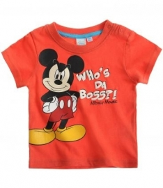 Disney Mickey Mouse t-shirt rood Who's da boss?! mt. 62