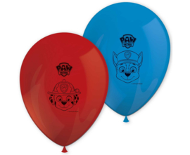 Paw Patrol ballonnen Let's Roll ø 28 cm. 8 st.