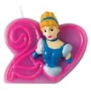 Disney Princess Assepoester hart 2e verjaardag kaars