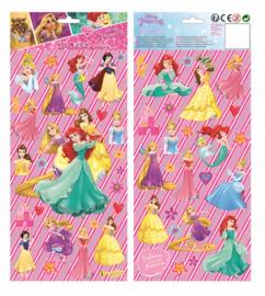 Disney Princess stickervel 15,5 x 35,5 cm. 2-delig