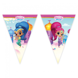 Shimmer and Shine vlaggenlijn glitter friends 2,3 mtr.