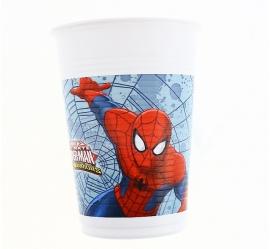 Spiderman bekertjes Web Warriors 8 st. 20 cl.