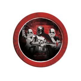 Star Wars The Last Jedi bordjes ø 23 cm. 8 st.