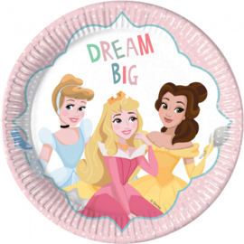 Disney Princess Dare to Dream bordjes ø 23 cm. 8 st.