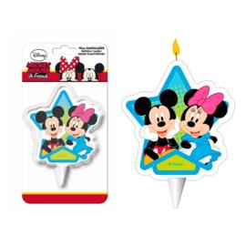 Disney Mickey en Minnie Mouse taart kaars 2D 7 cm.