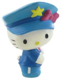 Hello Kitty taart topper decoratie politie 7 cm.