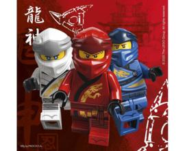 Lego Ninjago servetten 33 x 33 cm. 20 st.