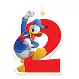 Disney Donald Duck 2e verjaardag taart kaars