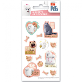 The Secret Life of Pets uitdeel stickervel 6 st.