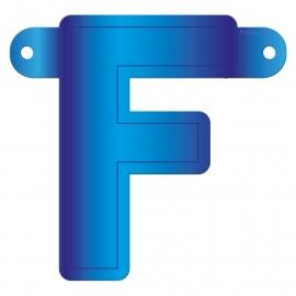 Banner letter f blauw