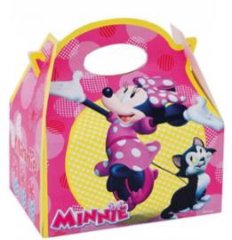 Disney Minnie Mouse traktatiedoosje 16 x 16 x 10 cm.