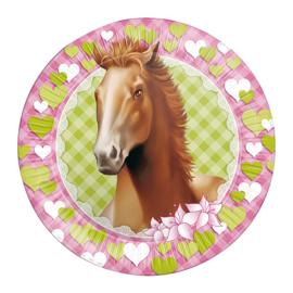 Paarden bordjes ø 23 cm. 8 st.