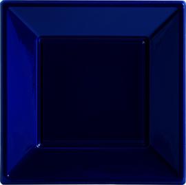 Gebakbordjes vierkant donker blauw 18 x 18 cm. 8 st.
