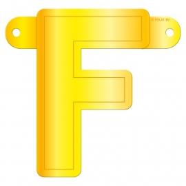 Banner letter F geel