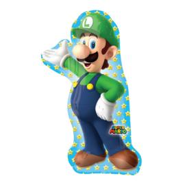 Super Mario Bros Luigi folieballon 50 x 96 cm.