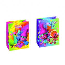 Trolls luxe cadeau tasje 23 x 17,5 x 10 cm. p/stuk
