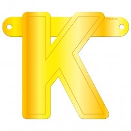 Banner letter K geel