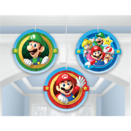 Super Mario Bros honeycomb decoratie 3 st.