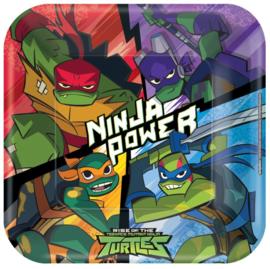 Ninja Turtles bordjes party 22,9 x 22,9 cm. 8 st.