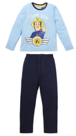 Brandweerman Sam pyjama blauw mt. 92